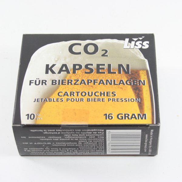16 gram kulsyrepatroner 10stk.