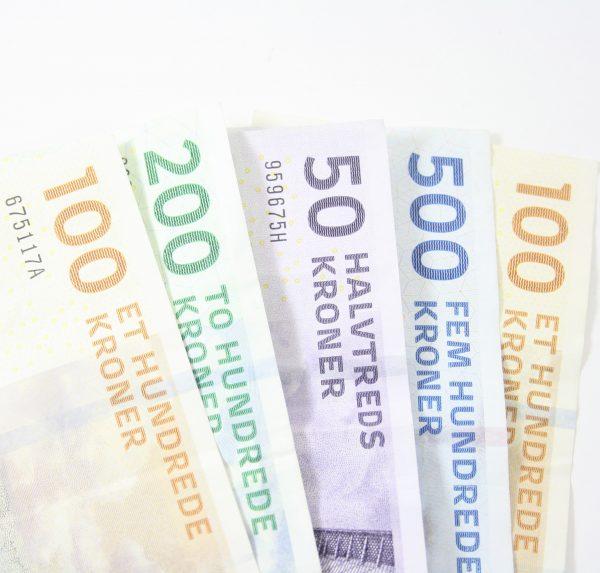 Kontant betaling med Visa kort