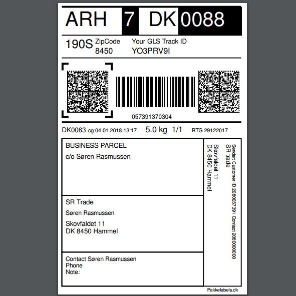 Forsendelses etikette