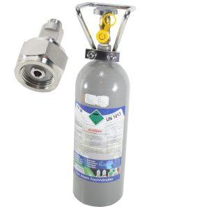 Opgraderingssæt fra co2 engangsflaske til 2kg genopfyldningsflaske