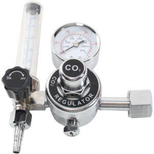 CO2 regulator med manometer og flowmeter