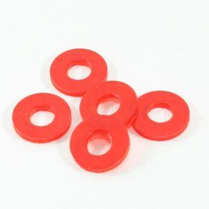 Rød blød pvc ID 9mm OD 20mm x 3 mm høj