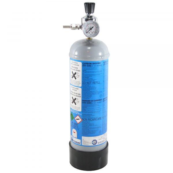 Co2 sæt med regulator og co2 flaske, 1200gram